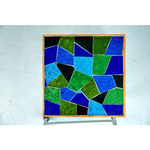 Glass 1960 Georges Briard Mosaic Top Side Tables - Set of 3 For Sale - Image 7 of 10