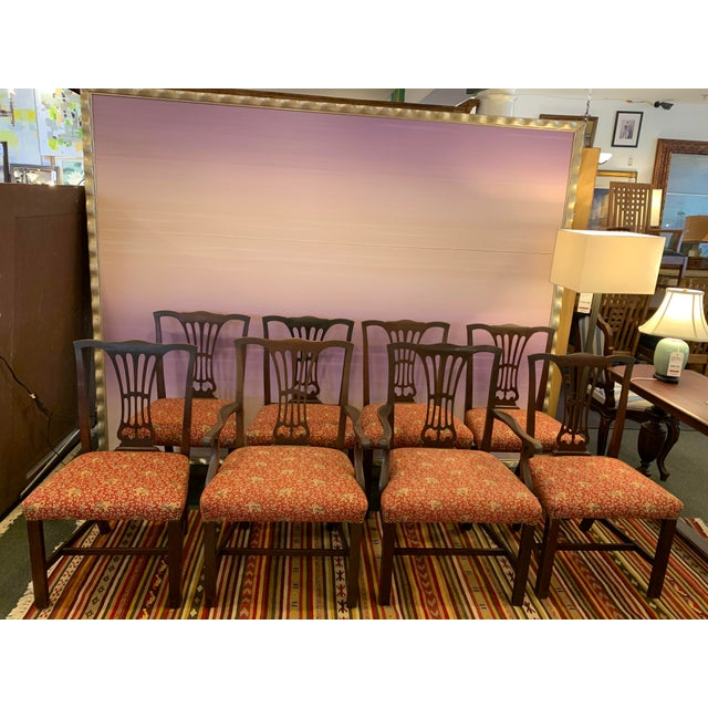 Vintage Chippendale Dining Chairs, Set of Eight For Sale - Image 12 of 12