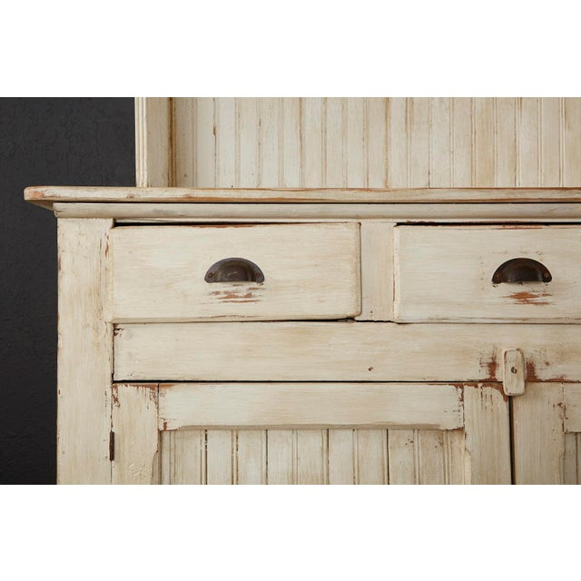 American Painted Pine Kitchen Cabinet Cupboard or Bookcase For Sale - Image 9 of 13