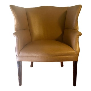 1940s Vintage English Wingback Club Chair For Sale
