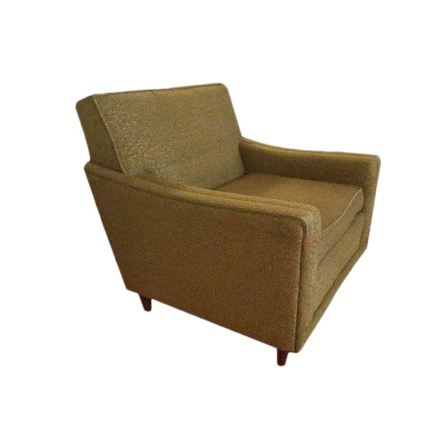 Mid-Century Modern Green Armchair - Image 1 of 3