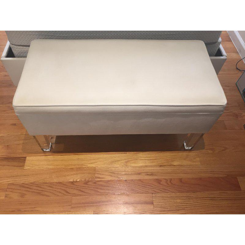 This Is A Stunning Skyline Furniture Storage Bench Upholstered In A  Sophisticated Velvet Fabric With Clear