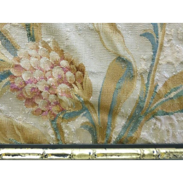 Gold 18th Century Floral Aubusson Panels, Set of Three For Sale - Image 8 of 11