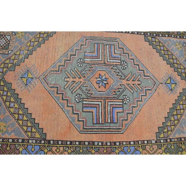 Turkish Oushak Antique Wool Rug - 3′6″ × 5′6″ For Sale - Image 10 of 11