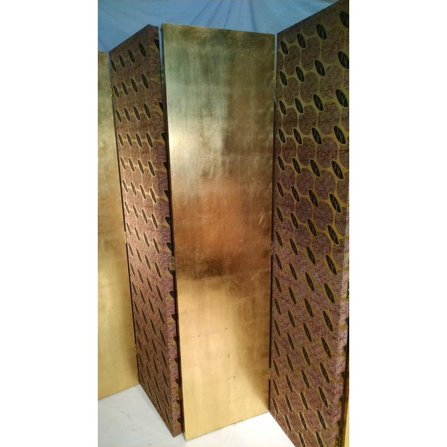 Gold Leaf Floor Screen - 5 Panels - Image 3 of 10