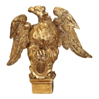 Small 18th Century Italian Giltwood Eagle Bookholder or Stand For Sale