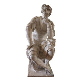 Large Michelangelo's Figure From the Tomb of Lorenzo DI Medici For Sale