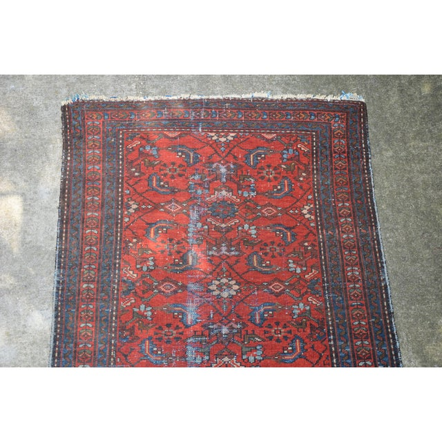 """Boho Chic Antique Hand Knotted Persian Floral Design Rug - 3'6"""" X 4'8"""" For Sale - Image 3 of 11"""