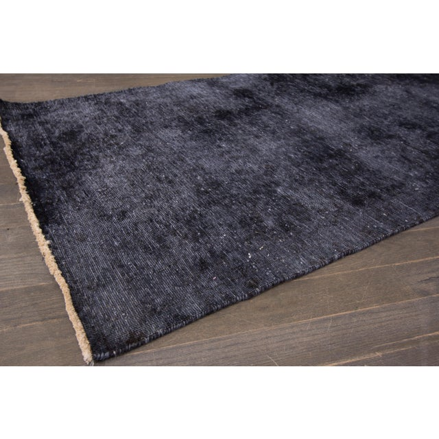 "Traditional Apadana - Vintage Overdyed Rug, 3'1"" x 11'2"" For Sale - Image 3 of 4"