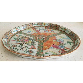 19th Century Chinese Rose Medallion 15 Inch Platter or Tray Preview