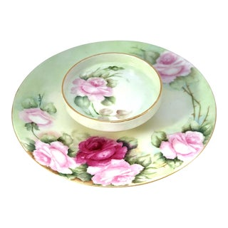 Limoges French Porcelain Tiered Serving Plate For Sale