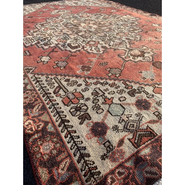 1960s 1960s Vintage Persian Hamadan Rug - 4′5″ × 6′6″ For Sale - Image 5 of 13
