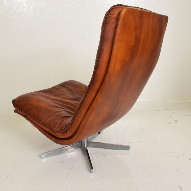 De Sede Mid Century Modern Pair of James Bond Arm Chairs by De Sede, Model S 231 For Sale - Image 4 of 11