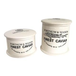 Vintage Fortnum & Mason Lidded Jars - A Pair