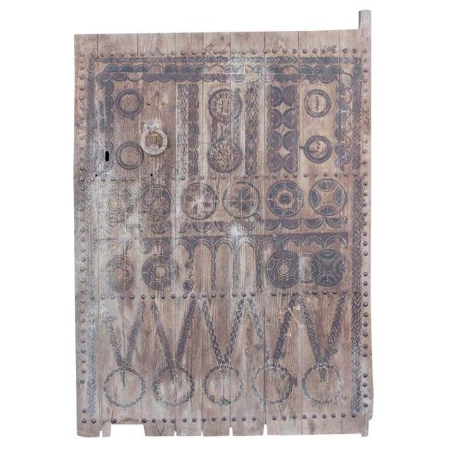 19th Century Tribal Cedar Door For Sale