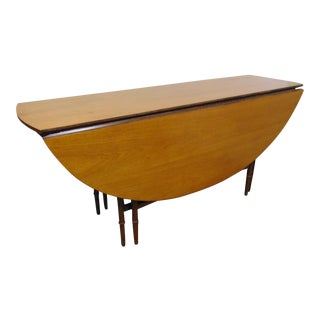 Regency Mahogany Faux Bamboo Dropleaf Dining Table For Sale