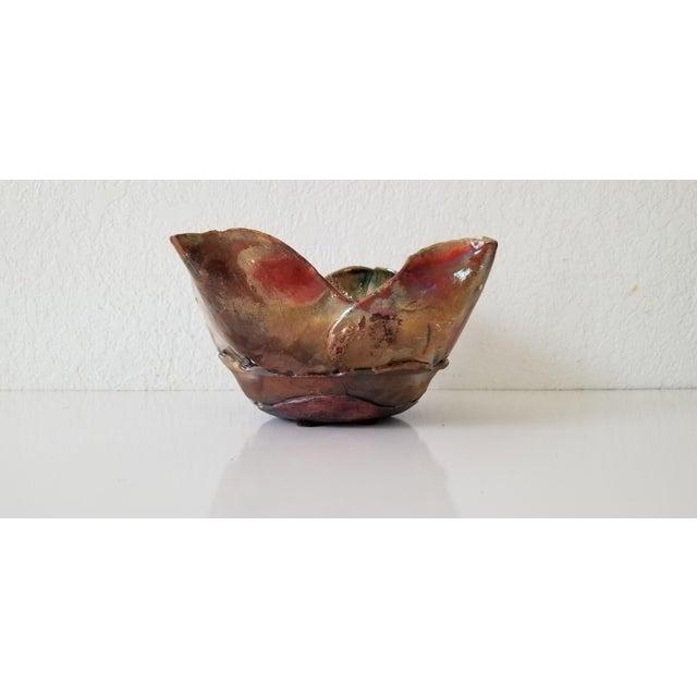 Vintage Sculptural Art Pottery Vase . For Sale - Image 10 of 11