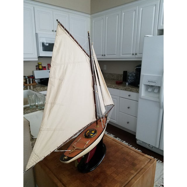1923 Antique Sailboat Model - Image 4 of 6