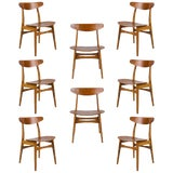 Image of Set of Eight Hans Wegner CH 30 Dining Chairs For Sale