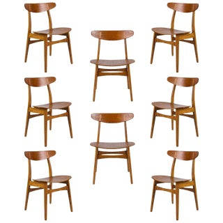 Set of Eight Hans Wegner CH 30 Dining Chairs For Sale