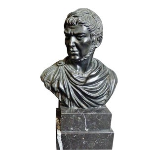 Vintage Mid-Century Italian Bronze Bust Sculpture For Sale