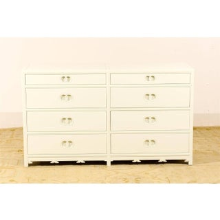 Stellar Restored Eight-Drawer Chest by Baker in Cream Lacquer, Circa 1970 Preview