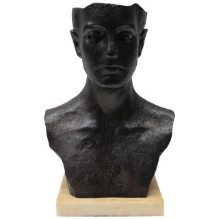 Iron Bust Sculpture For Sale