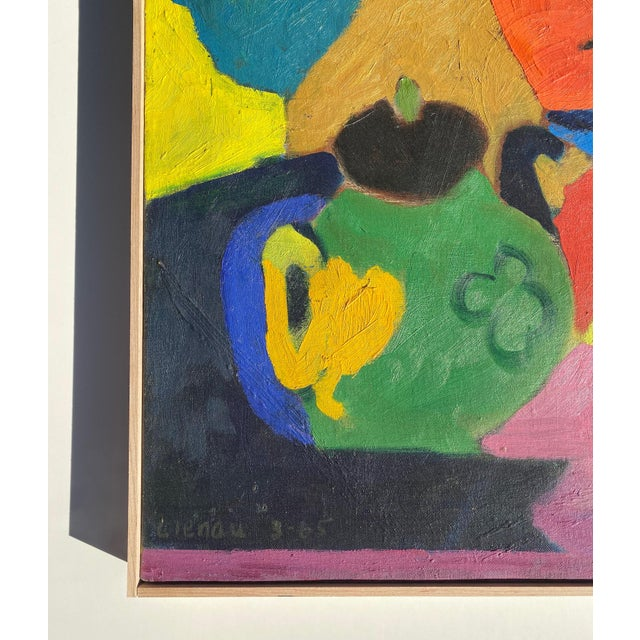 Matisse Style Mid-Century Expressionist Oil on Canvas Painting For Sale In Oklahoma City - Image 6 of 8