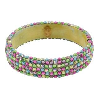 Richard Kerr Multicolor Pastel Jeweled Clamper Bracelet For Sale