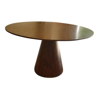 Mid-Century Modern Style Round Wooden Dining Table