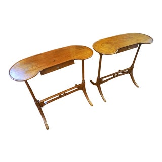 19th Century Walnut Tables - a Pair For Sale