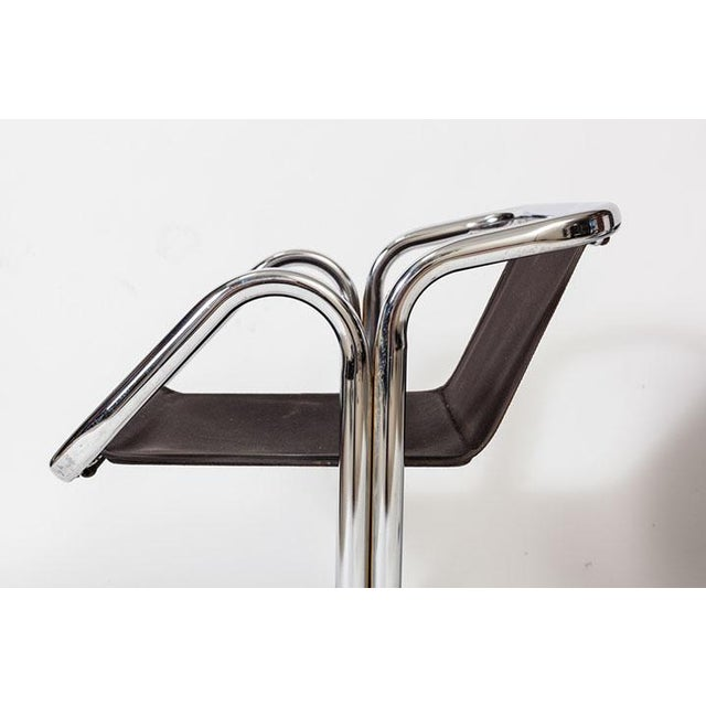 1970s Jerry Johnson Tubular Chrome Dining Chairs - Set of 8 For Sale - Image 5 of 7