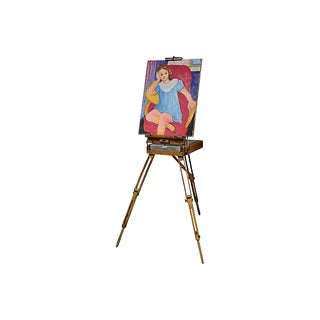 Mid-Century French Artist Studio Easel For Sale