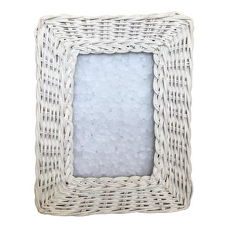 White Wicker Picture Frame For Sale