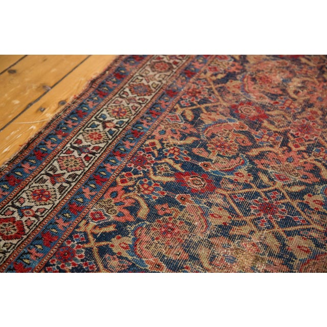 "Vintage Distressed Bijar Rug Runner - 3'7"" x 15'2"" - Image 6 of 10"