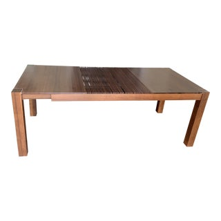Mid-Century Modern Walnut Dining Table For Sale