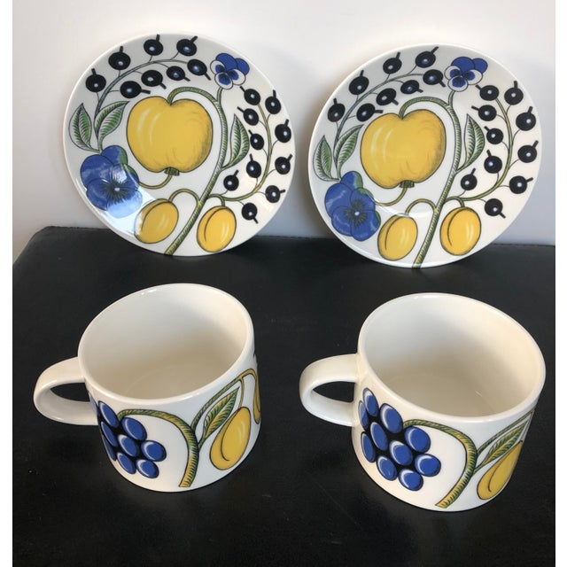Arabia Finland Paratiisi Set of Two Cups Saucers - 4 Pc. - Image 2 of 9