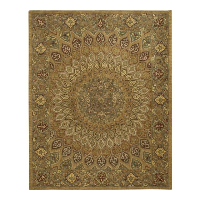 Safavieh Heritage Wool Hand Tufted Light Brown Grey Rug - 7'6 X 9'6 For Sale