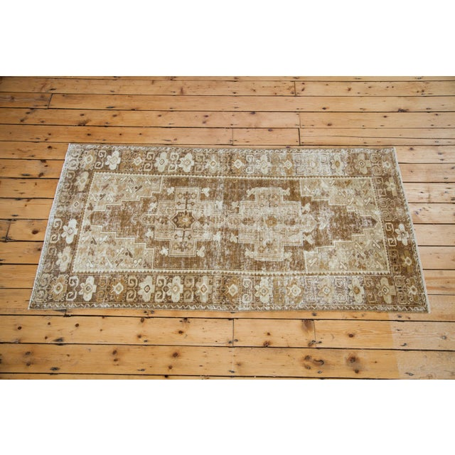 """Distressed Oushak Rug Runner - 3'6"""" X 6'9"""" For Sale - Image 4 of 8"""