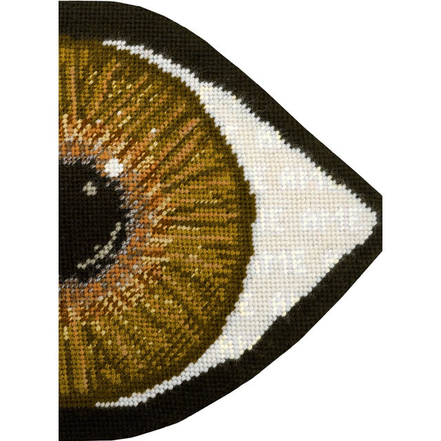 Custom Made Brown Eye Sculpted Pillow For Sale - Image 6 of 11