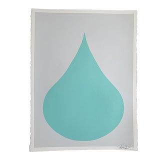 "Stephanie Henderson ""Fat Drop of Seafoam on Stone"" Contemporary Painting For Sale"