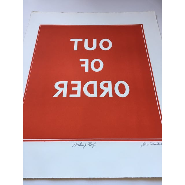 1970s Pop Art Text Print Signed by Jean Sariano For Sale - Image 10 of 11