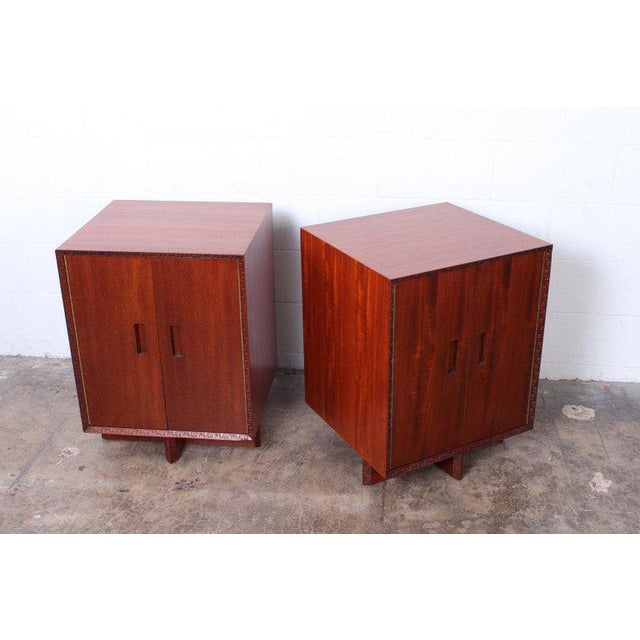 """Wood Frank Lloyd Wright """"Taliesin"""" Nightstands for Henredon For Sale - Image 7 of 11"""