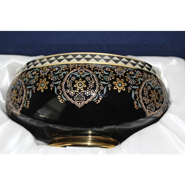 """This is a """"one of a kind"""" porcelain bowl from the Ottoman empire state of Istanbul. The black and gold color are uniquely..."""