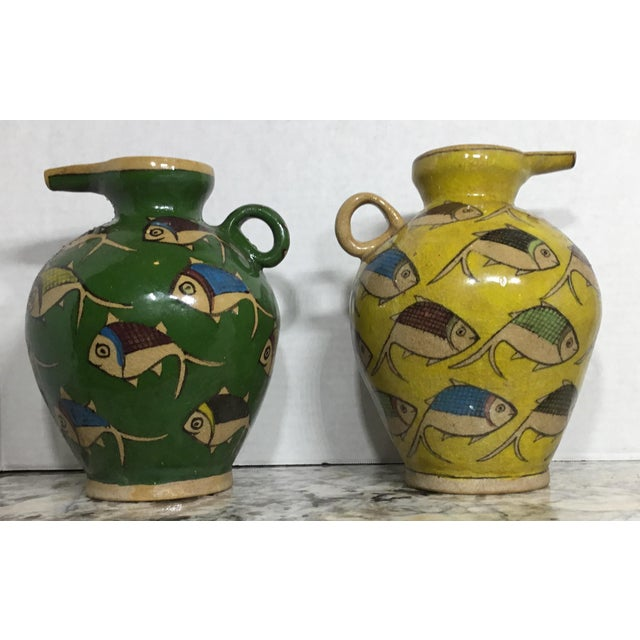 Vintage Persian Ceramic Vessels - A Pair - Image 2 of 11