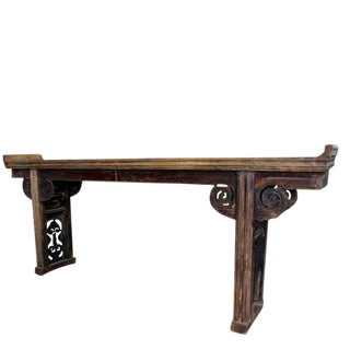 Open Carved Double Ruyi Leg Antique Altar Table