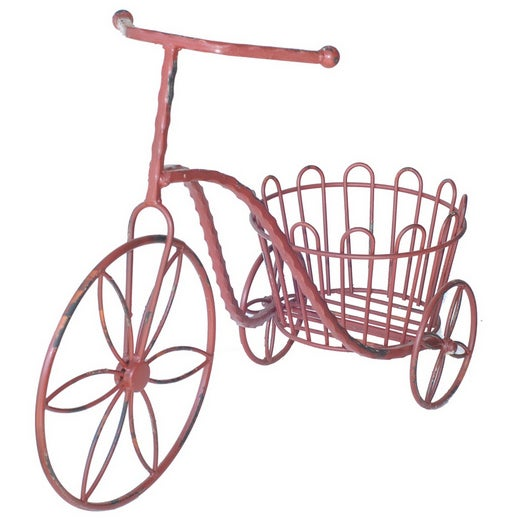 Metal Antique Garden Tricycle Plant Stand - Image 1 of 3