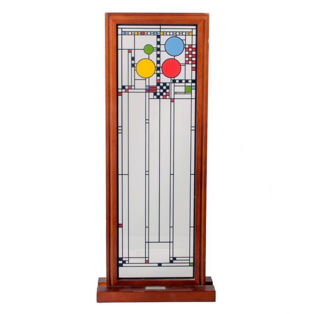Frank Lloyd Wright Stained Glass Panel Collection For Sale In Savannah - Image 6 of 8