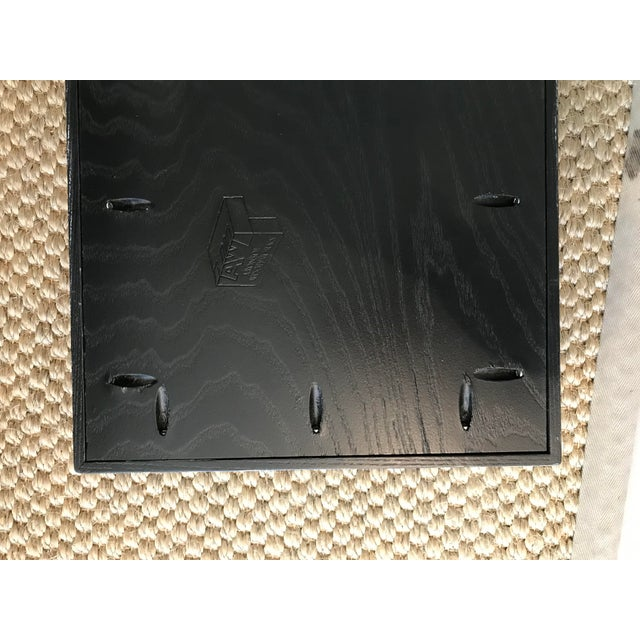 Wood Black/White Solid Wood Tray For Sale - Image 7 of 9