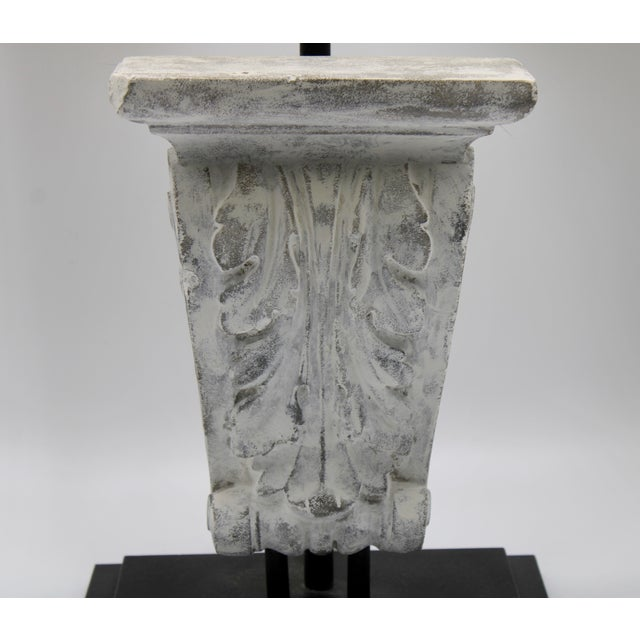Architectural Restoration Hardware Style Corbel Lamp For Sale - Image 4 of 13